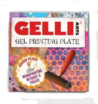 Gelli Plate - Rund. Medium, diameter 15 cm.