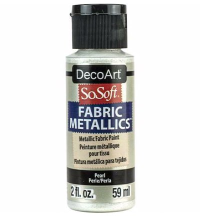 So Soft tekstilmaling - Metallic, Pearl White, 59 ml