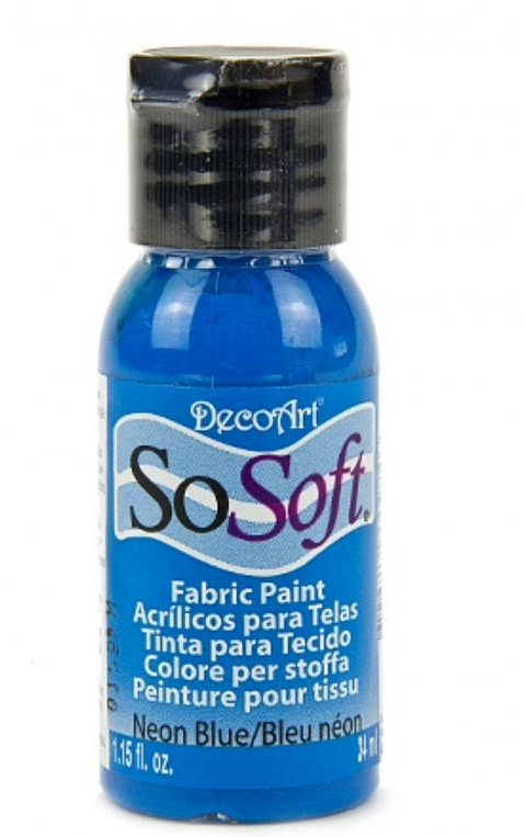 So Soft textilmaling - Neon Blue, 29 ml